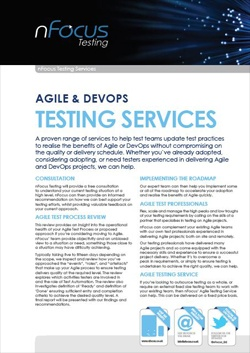 Testing in DevOps Services Overview Document