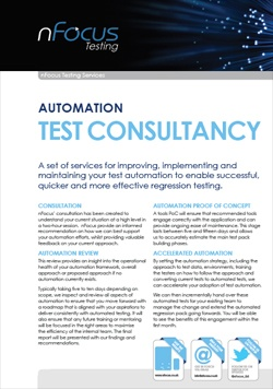 Test Automation Consulting Services Overview Document