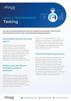Load and Performance Test Consultancy