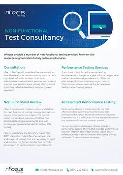 Non-Functional Test Consultancy Service Overview Datasheet