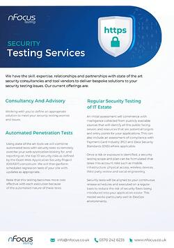 Security Testing Service Overview Datasheet